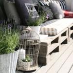 3-canapea confectionata din paleti de lemn decor balcon shabby chic
