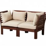 3-canapea de exterior din lemn de 2 locuri cu pernute magazin Portalia