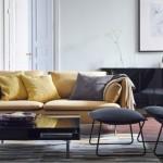 3-canapea fotoliu si lampadare decor living modern accente vintage