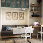 3-canapea integrata in nisa bucatarie amenajare living mic open space