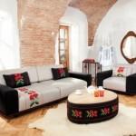 3-canapea moderna cu broderii populare magazin Lems model 2019