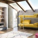 3-canapea transformabila Doc marca Clei in varianta paturilor supraetajate