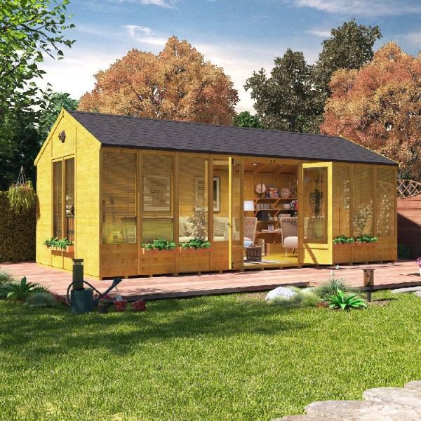 3-casa din lemn fara fundatie constructie sezoniera pentru gradina