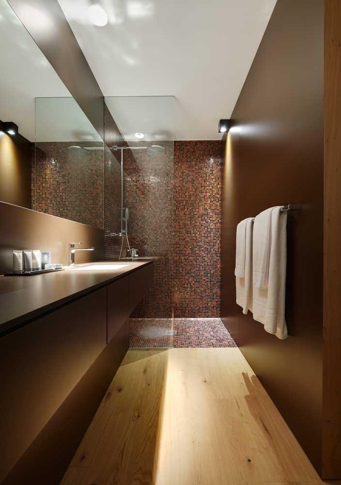 3-combinatii mozaic si lemn amenajare baie moderna lux