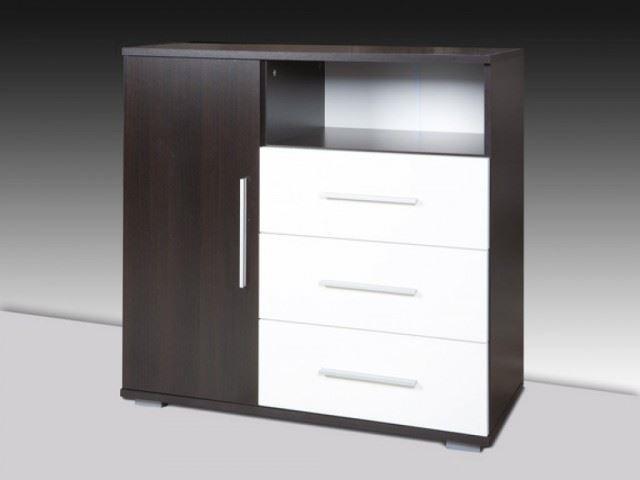 3-comoda cu 3 sertare si un dulap cu usa model Omega magazin Staer