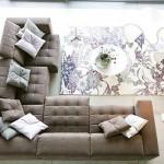 3-covor cu imprimeu floral in nuante de gri decor living modern minimalist