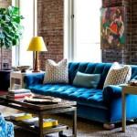 3-covor neutru in contrast cu mobila in culori puternice din living