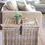 3-cufar din impletituri vegetale depozitare paturi si cuverturi langa canapea living