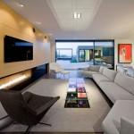 3-decor living minimalist modern cu pete de culoare