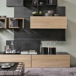 3-design mobila moderna living furnir de lemn cu gri inchis mat
