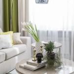 3-detalii decorative living modern in nuante de bej si crem cu verde crud
