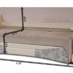 3-dimensiuni canapea multifunctionala ce poate fi transforata in masa