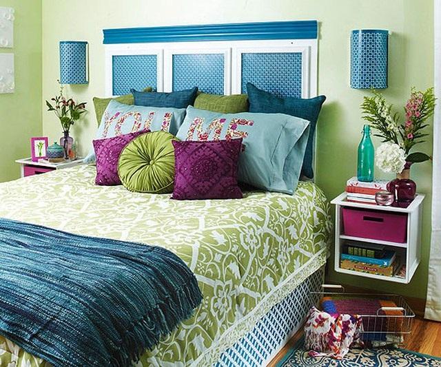 3-dormitor decorat in culorile verii dupa transformare