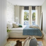 3-dormitor mic decorat in alb crem gri si nuante de bleu