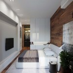 3-dormitor modern amenajat stil minimalist cu mobila alba
