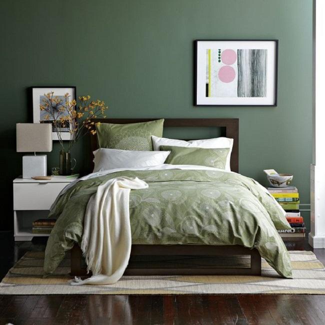 3-dormitor relaxant zugravit intr-o nuanta placuta de verde