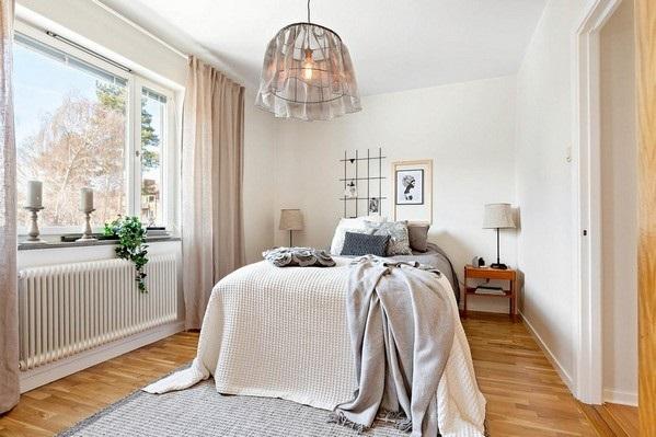 3-dormitor scandinav amenajat in tonuri de bej