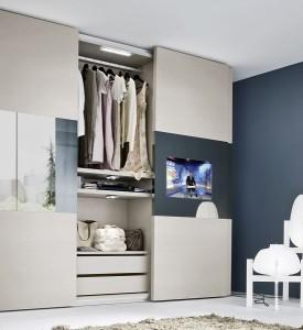 3-dressing haine cu televizor integrat in usa glisanta