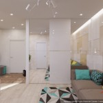 3-dressing urias alb cu usi glisante cu oglinzi living open space fosta garsoniera