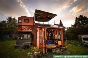 3-exterior camion transformat in casa