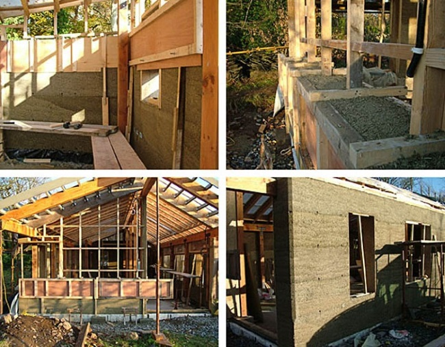 3-faze constructie casa structura lemn zidarie beton din canepa Hempcrete
