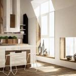 3-ferestre frumoase si luminoase bucatarie moderna amenajata in mansarda