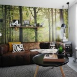 3-foto tapet padure verde decor living