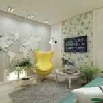 3-fotoliu galben amenajare living modern mic apartament