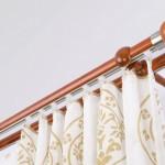 3-galerie dubla din lemn cu insertie de inox si sina pentru decor clasic