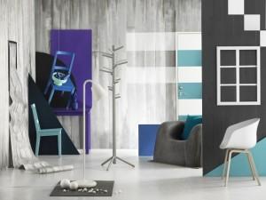3-gri in calitate de culoare de baza pentru accente cromatice violet bleu sau turcoaz