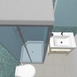 3-idee amenajare baie mica bloc 2 mp cu cabina de dus