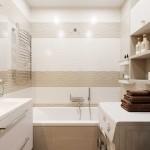 3-idei 2019 amenajare baie mica apartament alb cu bej