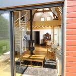 3-interior casa mica lemn cu mezanin