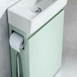 3-lavoar ceramic cu masca ingusta slim prevazuta cu suport hartie igienica si perie wc