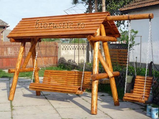 3-leagan rustic pentru terasa magazin Biorustic