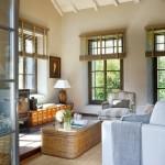3-living casa din piatra dupa restaurare si amenajare