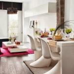 3-living cu dining open space apartament modern cu accente marocane