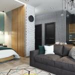 3-living cu dormitor si bucatarie open space garsoniera mdoerna tinereasca
