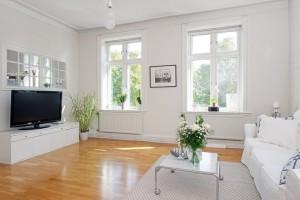 3 living modern amenajat in stil scandinav
