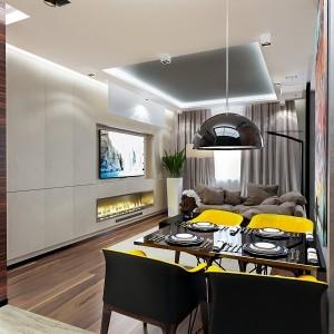 3-living modern open space apartament semidecomandat 2 camere