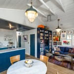 3-living open space cu bucatarie casa mica din lemn SUA