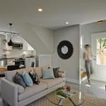 3-living si bucatarie open space casa mica 62 mp parter si mansarda