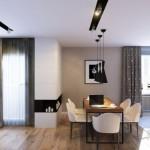 3-loc de luat masa open space modern apartament 3 camere