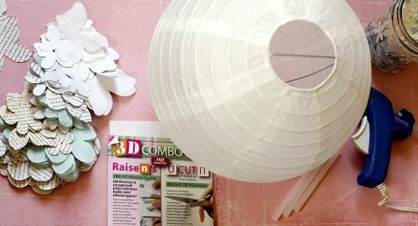 3-materiale necesare pentru confectionarea unei lustre decorative 3D