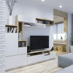 3-mobila alba cu carcasa lemn living modern stil scandinav