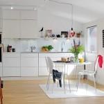 3-mobila alba lucioasa decor bucatarie moderna amenajata in stil scandinav