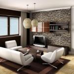 3-mobila asezata in centrul incaperii decor living mic