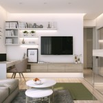3-mobila minimalista living modern amenajare apartament mic accente gri si verde olive