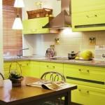 3-mobilier bucatarie verde fistic design modern pe colt