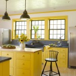 3-mobilier galben cu gri decor bucatarie mare